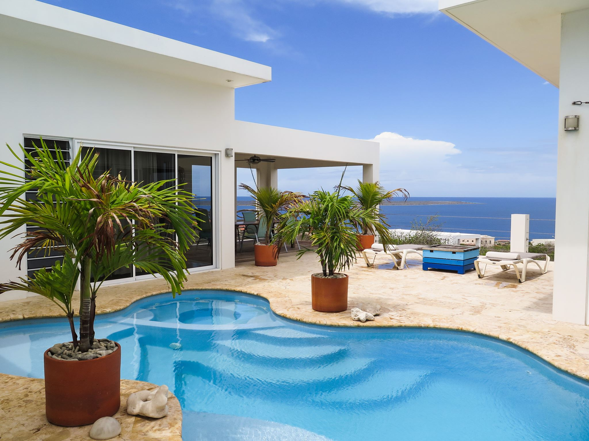 Sweeping views from the pool and terrace