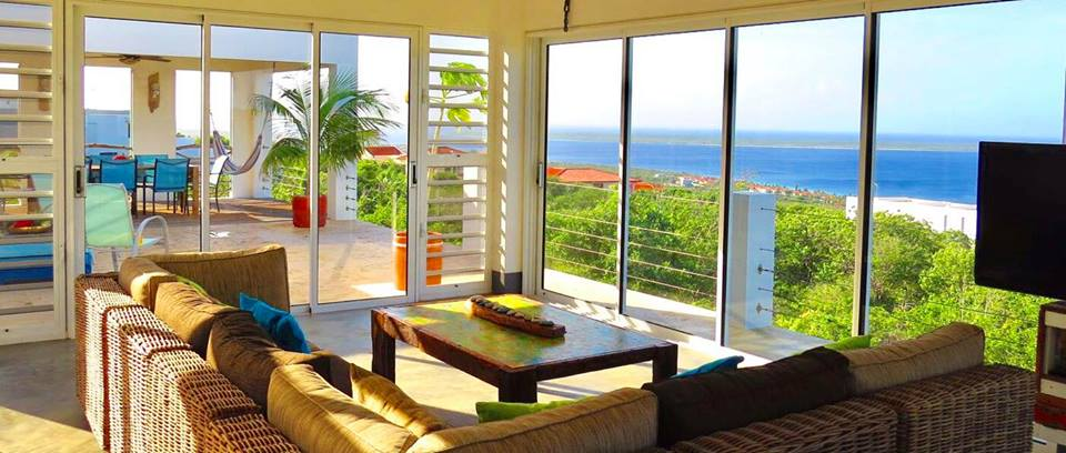 Enjoy the beautiful panoramic view from the living room
