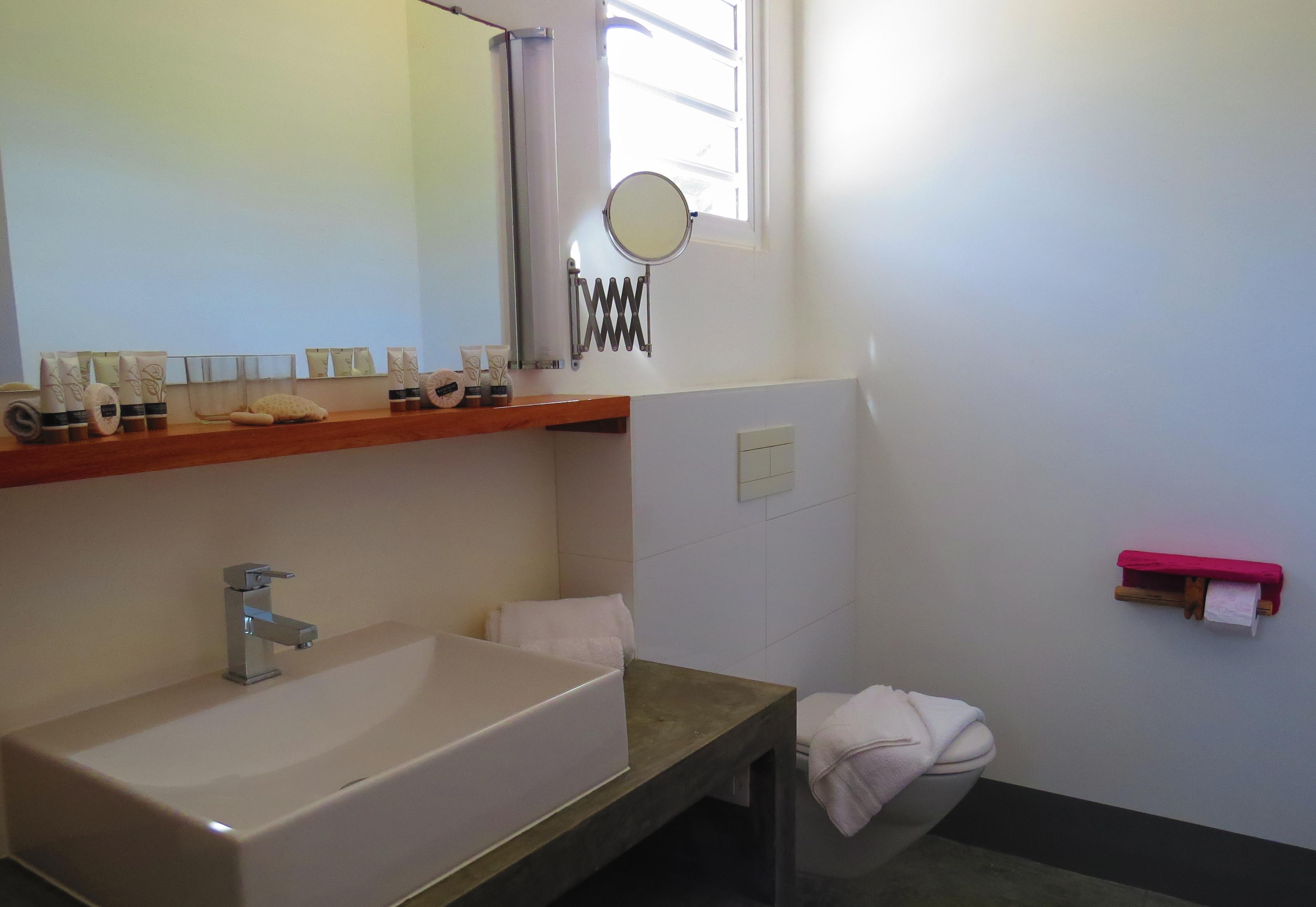 Modern design bathrooms throughout the villa