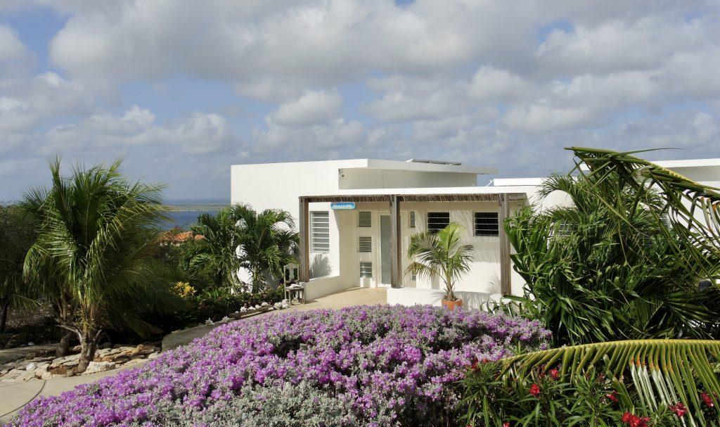 Floral entrance to paradise Seascape Villa