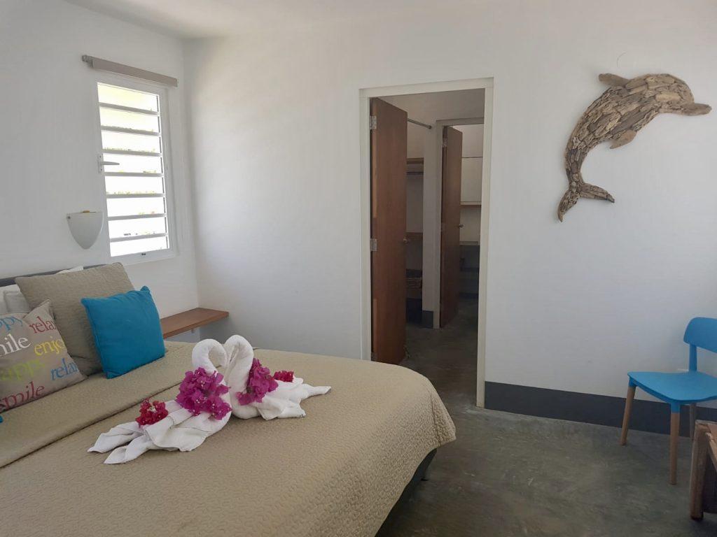 Master bedroom, walk in closet with full ensuite bathroom